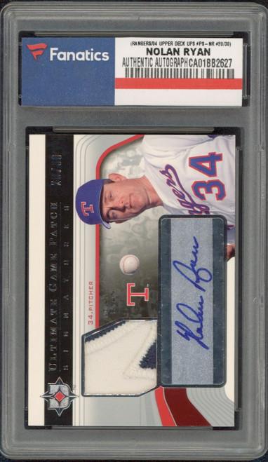 NOLAN RYAN Autographed Texas Rangers 2004 Upper Deck SPA Trading Card FANATICS