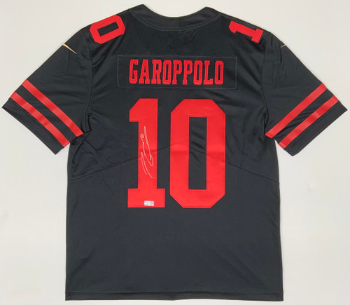 JIMMY GAROPPOLO Autographed San Francisco 49ers Nike Black Limited Jersey TRISTAR