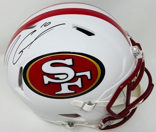 JIMMY GAROPPOLO Autographed San Francisco 49ers White Matte Authentic Helmet TRISTAR