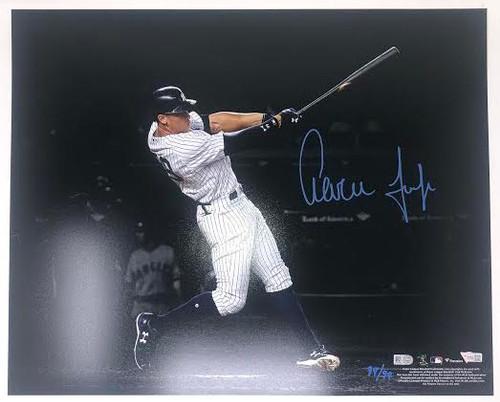 "AARON JUDGE Autographed New York Yankees 16"" x 20"" Spotlight Photograph FANATICS LE 99/99"