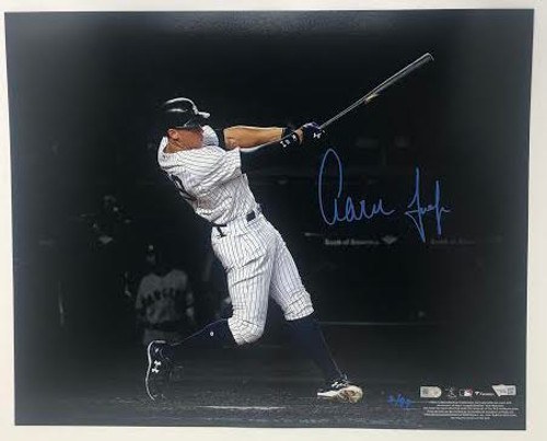 "AARON JUDGE Autographed New York Yankees 16"" x 20"" Spotlight Photograph FANATICS LE 99"