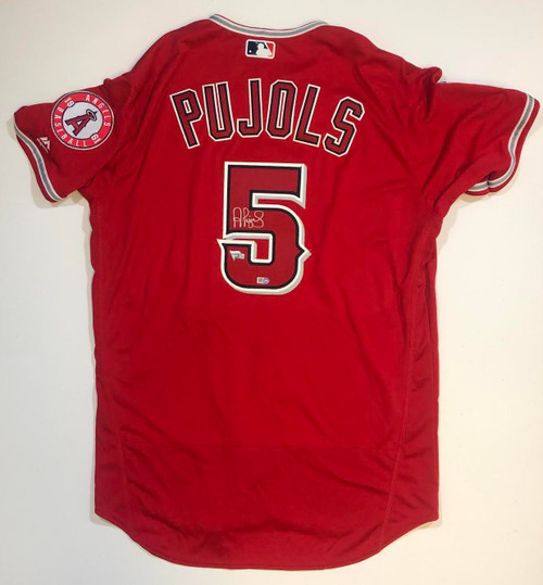 ALBERT PUJOLS Autographed Los Angeles Angels Red Authentic Jersey FANATICS