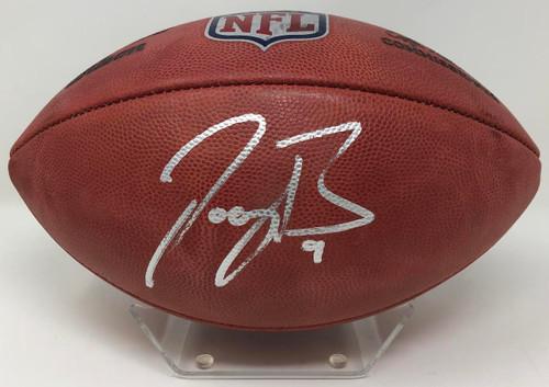 JOE BURROW Autographed Cincinnati Bengals Authentic Duke NFL Football FANATICS