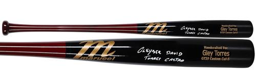 GLEYBER TORRES Autographed Full Name New York Yankees Game Model Bat FANATICS