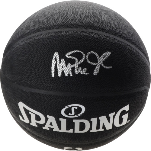 MAGIC JOHNSON Autographed Los Angeles Lakers Black Spalding Basketball FANATICS