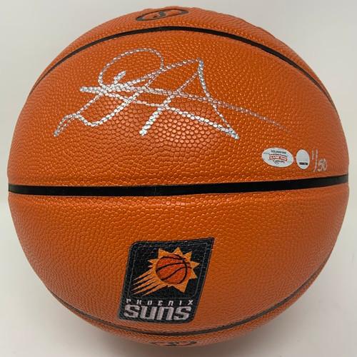DEANDRE AYTON Autographed Phoenix Suns Logo Basketball GDL LE 1/50