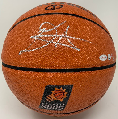 DEANDRE AYTON Autographed Phoenix Suns Logo Basketball GDL LE 18/50