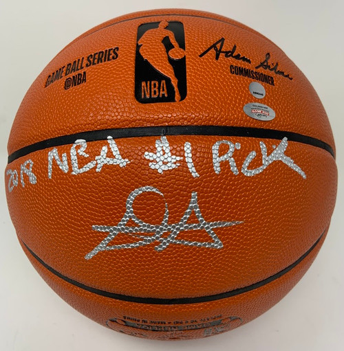 """DEANDRE AYTON Autographed (Silver) and Inscribed """"2018 NBA #1 Pick"""" Phoenix Suns Basketball GDL LE 1/22"""