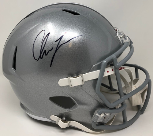 CHASE YOUNG Autographed Ohio State Buckeyes Full Size Speed Helmet FANATICS