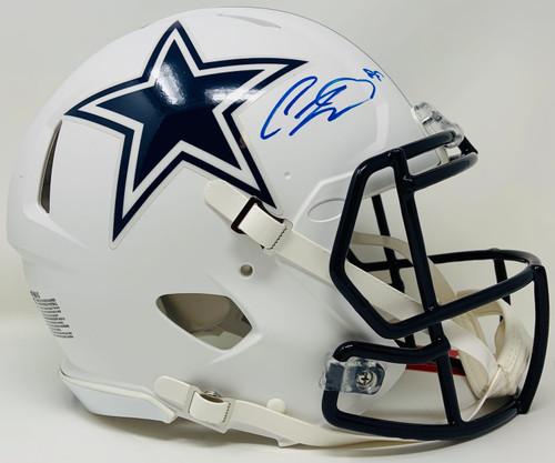 CEEDEE LAMB Autographed Dallas Cowboys White Matte Authentic Speed Helmet FANATICS