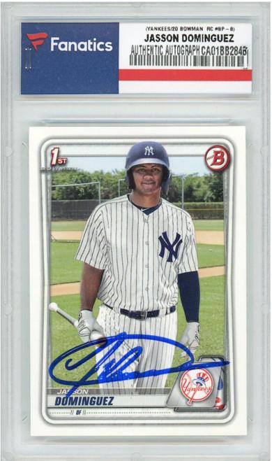 JASSON DOMINGUEZ New York Yankees Autographed 2020 Bowman RC Card FANATICS