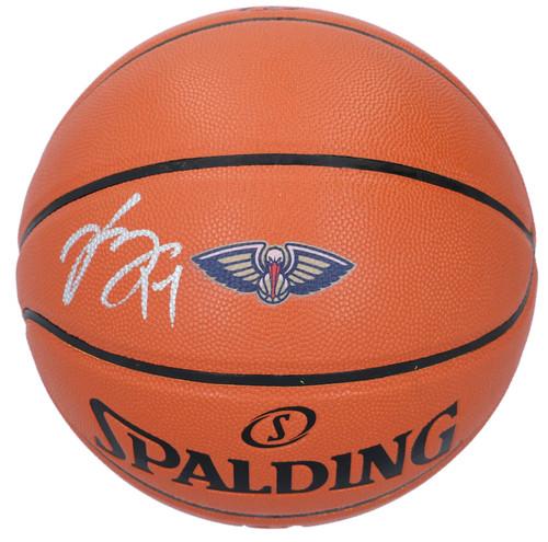 BRANDON INGRAM New Orleans Pelicans Logo Autographed Spalding Basketball FANATICS