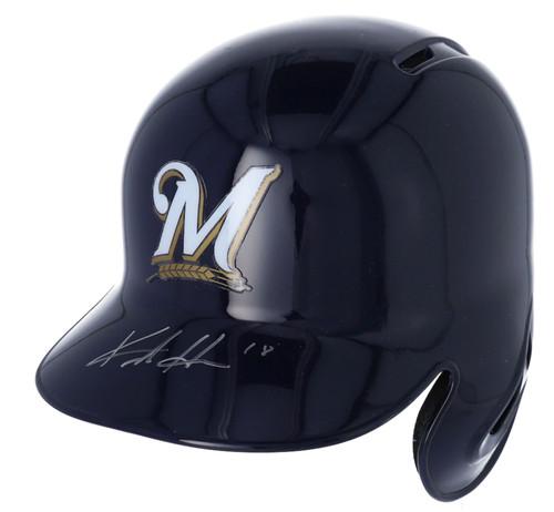 KESTON HIURA Autographed Milwaukee Brewers Batting Helmet FANATICS