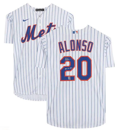 "PETE ALONSO Autographed ""2019 NL ROY"" New York Mets Majestic Jersey FANATICS"