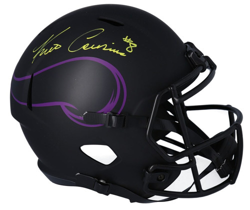 KIRK COUSINS Autographed Minnesota Vikings Eclipse Full Size Speed Helmet FANATICS