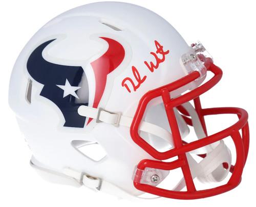DESHAUN WATSON Autographed Houston Texans White Matte Mini Speed Helmet FANATICS