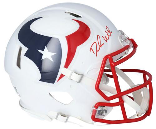 DESHAUN WATSON Autographed Houston Texans Authentic White Matte Helmet FANATICS