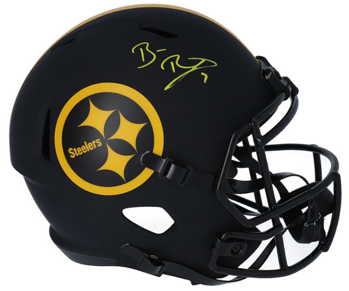 BEN ROETHLISBERGER Autographed Pittsburgh Steelers Eclipse Full Size Speed Helmet FANATICS