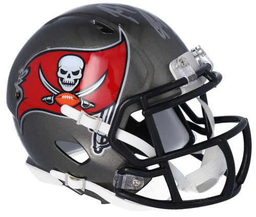 ROB GRONKOWSKI Autographed Tampa Bay Buccaneers Mini Speed Helmet FANATICS