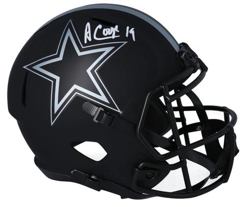 AMARI COOPER Autographed Dallas Cowboys Speed Eclipse Full Size Helmet FANATICS