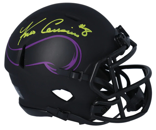 KIRK COUSINS Autographed Minnesota Vikings Eclipse Mini Speed Helmet FANATICS