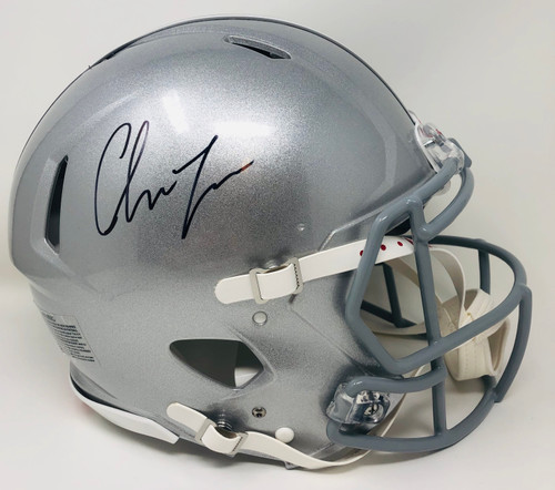 CHASE YOUNG Autographed Ohio State Buckeyes Authentic Speed Helmet FANATICS