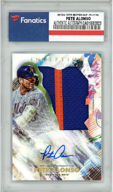 PETE ALONSO Autographed New York Mets 2020 TOPPS Inception Card FANATICS LE 77/90