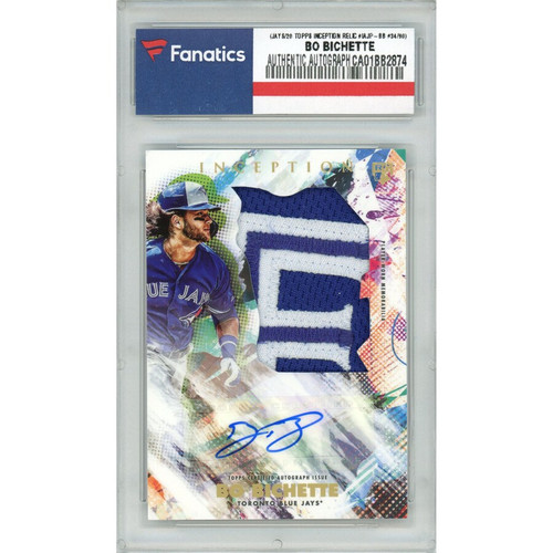 BO BICHETTE Autographed Toronto Blue Jays 2020 TOPPS Inception Relic Card FANATICS