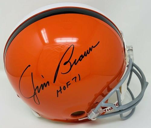 JIM BROWN Autographed HOF 71 Cleveland Browns Proline Authentic Helmet FANATICS