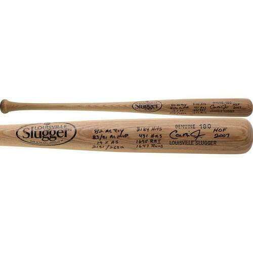 CAL RIPKEN Jr. Autographed Career Stat Louisville Slugger Bat FANATICS LE 12