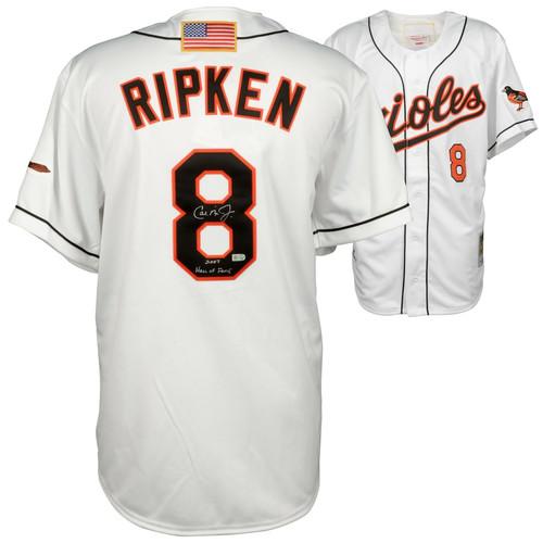 "CAL RIPKEN Jr. Autographed ""2007 Hall Of Fame"" Baltimore Orioles Authentic Jersey FANATICS"