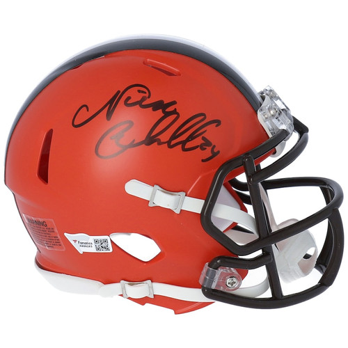 NICK CHUBB Autographed Cleveland Browns Mini Speed Helmet FANATICS