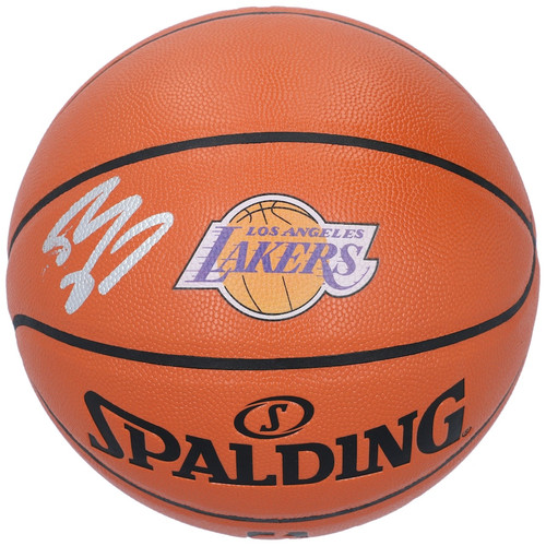 SHAQUILLE O'NEAL Autographed Los Angeles Lakers Logo Spalding Basketball FANATICS