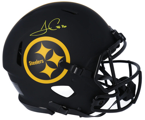 JAMES CONNER Autographed Pittsburgh Steelers Eclipse Authentic Speed Helmet FANATICS