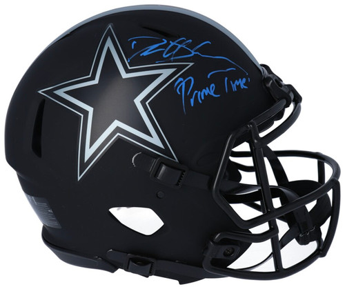 "DEION SANDERS Autographed ""Primetime"" Dallas Cowboys Authentic Eclipse Helmet FANATICS"