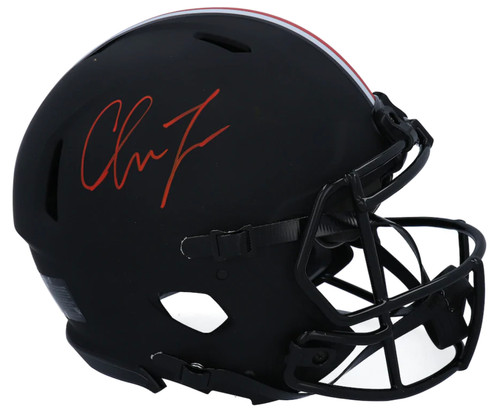 CHASE YOUNG Autographed Ohio State Buckeyes Authentic Speed Eclipse Helmet FANATICS