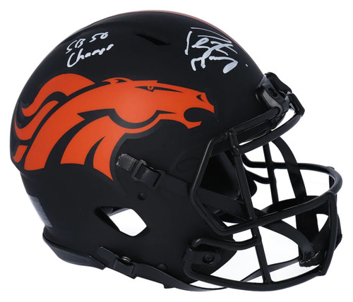 "PEYTON MANNING Signed ""SB 50 Champs"" Denver Broncos Eclipse Authentic Helmet FANATICS"
