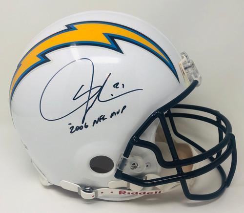 """LADAINIAN TOMLINSON Autographed """"2006 NFL MVP"""" Los Angeles Chargers Authentic Helmet GTSM LE 1/21"""