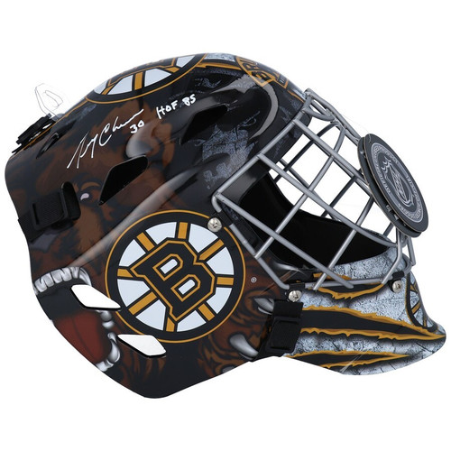 "GERRY CHEEVERS Autographed ""HOF 1985"" Boston Bruins Goalie Mask FANATICS"