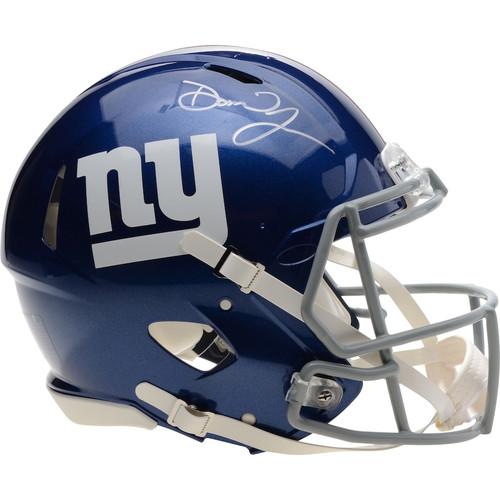 DANIEL JONES Autographed New York Giants Speed Authentic Helmet FANATICS