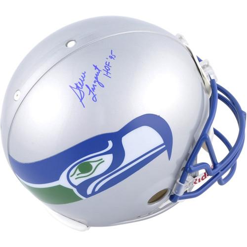 "STEVE LARGENT Autographed and Inscribed ""HOF 95"" Seattle Seahawks Authentic Helmet FANATICS"