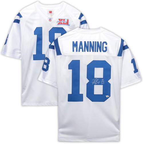 "PEYTON MANNING Autographed ""SB XLI MVP"" Indianapolis Colts White Authentic Jersey FANATICS"