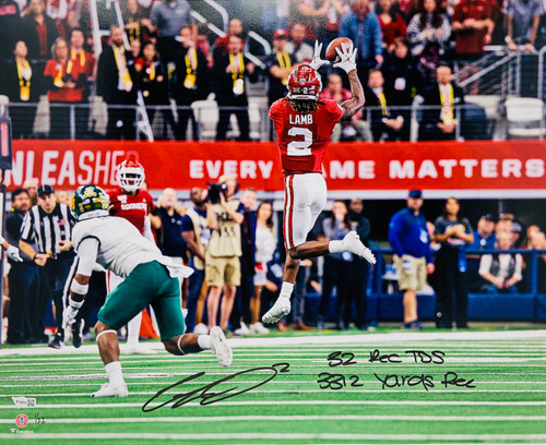 "CEEDEE LAMB Autographed Oklahoma Sooners 16"" x 20"" Stats Photograph FANATICS LE 22"