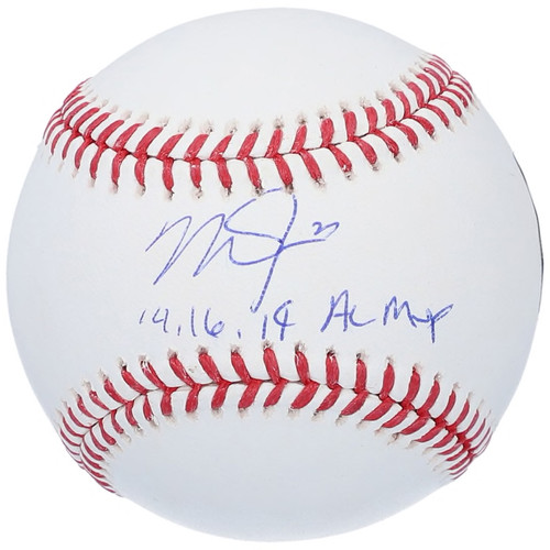 """MIKE TROUT Los Angeles Angels Autographed and Inscribed """"14, 16, 19 AL MVP"""" Official MLB Baseball MLB AUTHENTICATED"""