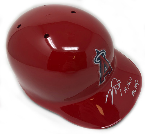 "MIKE TROUT Autographed and Inscribed ""14, 16, 19 AL MVP"" Los Angeles Angels Batting Helmet MLB AUTHENTICATED"