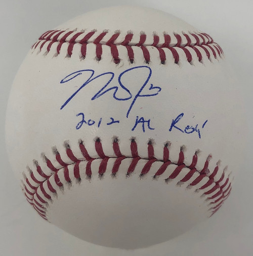 "MIKE TROUT Los Angeles Angels Autographed and Inscribed ""2012 AL ROY"" Official MLB Baseball MLB AUTHENTICATED"