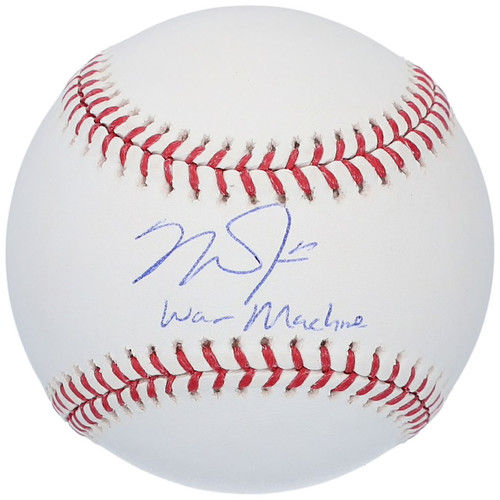 "MIKE TROUT Los Angeles Angels Autographed and Inscribed ""WAR MACHINE"" Official MLB Baseball MLB AUTHENTICATED"