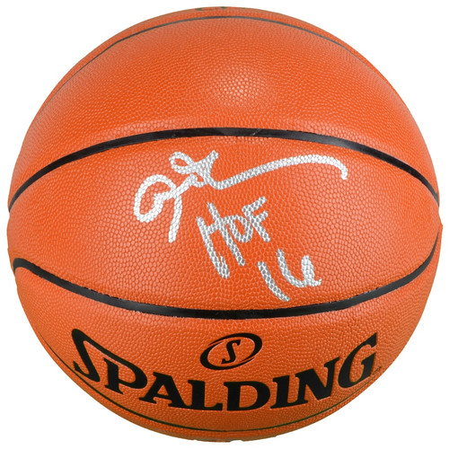 """ALLEN IVERSON Autographed and Inscribed """"HOF 2K16"""" Spalding Game Ball Series Basketball FANATICS"""