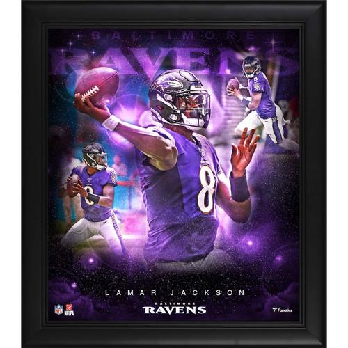 "LAMAR JACKSON Baltimore Ravens Framed 15"" x 17"" Stars of the Game Collage FANATICS"