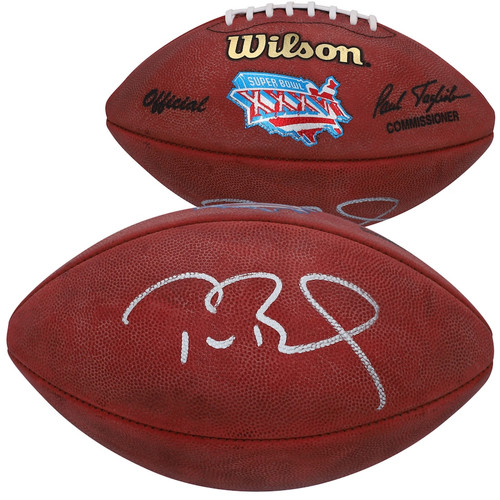 TOM BRADY Autographed New England Patriots Super Bowl XXXVI Pro Football FANATICS